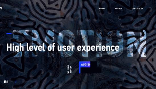 Сайт дизайнерского агенства